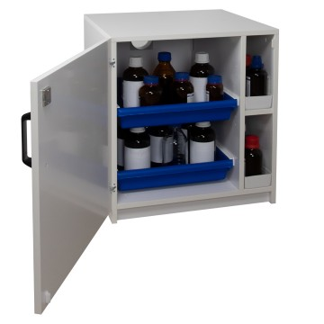 1 Door Underbench Melamine Safety Cabinet For Acids And