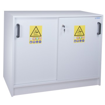 2 Door Working Cover Melamine Safety Cabinet For Acids And Bases