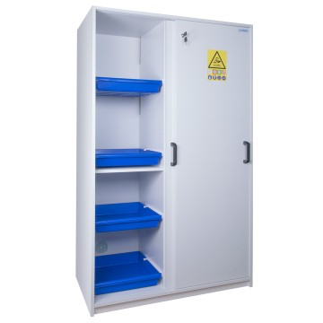 2 Door Tall Melamine Safety Cabinet For Acids And Bases Ecosafe